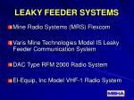 leaky feeder systems