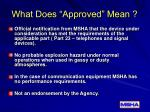 what does approved mean