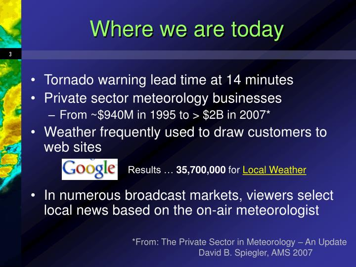 Where we are today