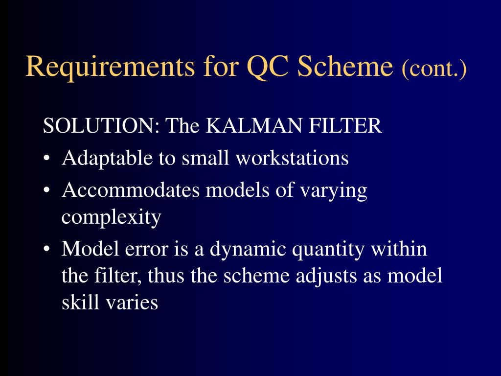 Requirements for QC Scheme