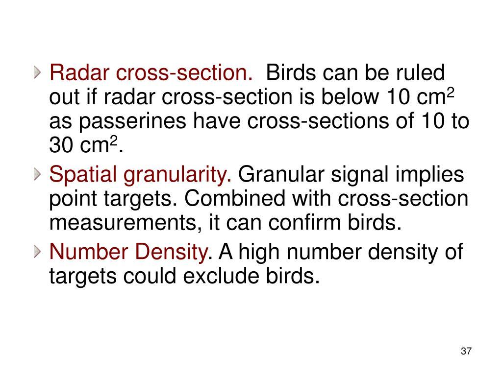 Radar cross-section.