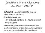conditional grants allocations 2011 12 2013 142
