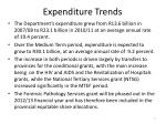 expenditure trends