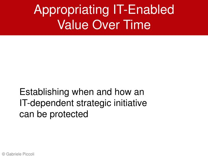 appropriating it enabled value over time n.