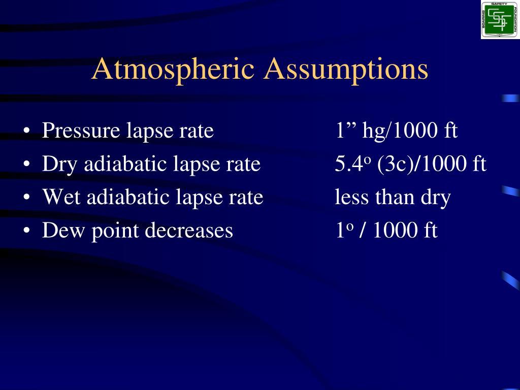 Atmospheric Assumptions