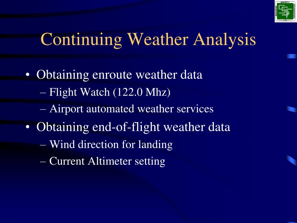 Continuing Weather Analysis
