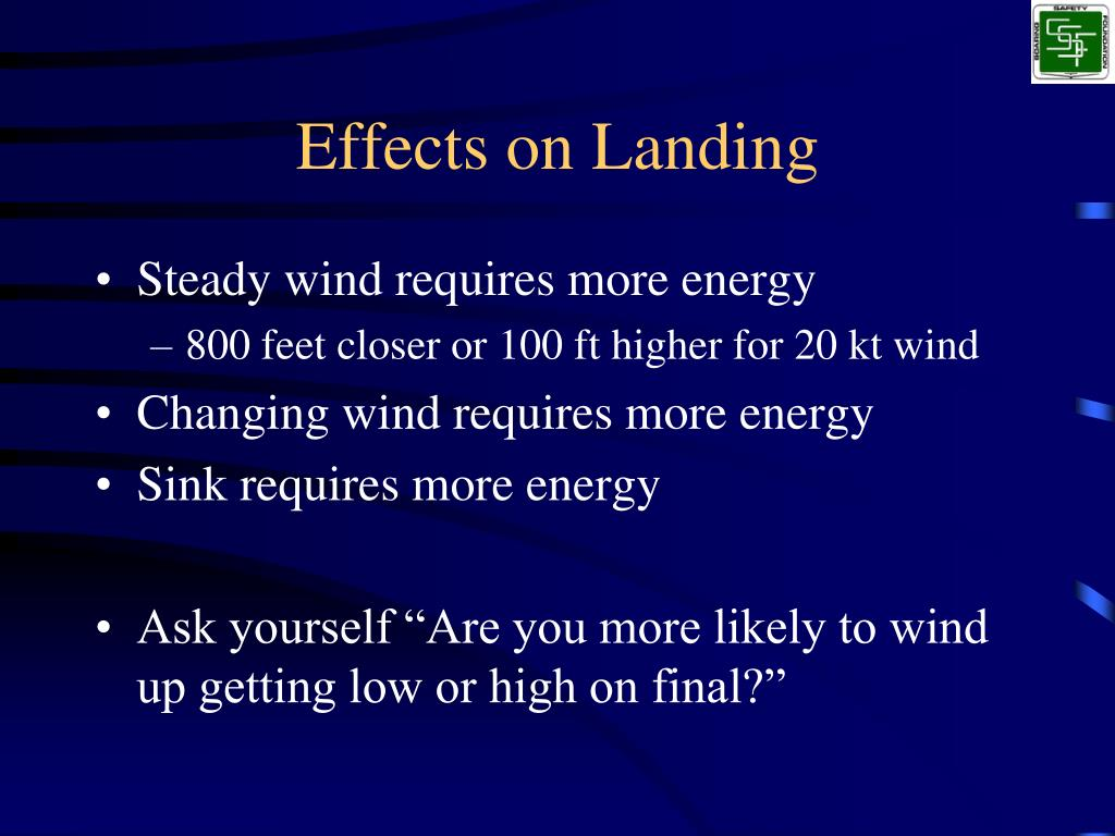Effects on Landing