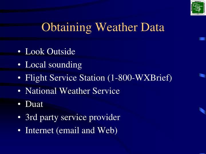 Obtaining weather data