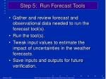 step 5 run forecast tools