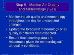 step 9 monitor air quality and meteorology 1 of 2