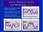 step 9 monitor air quality and meteorology 2 of 2