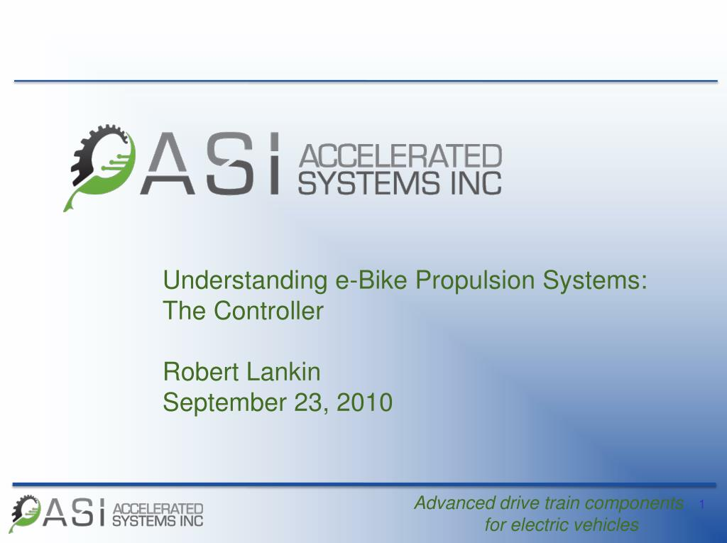 Understanding e-Bike Propulsion Systems: