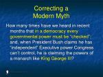 correcting a modern myth