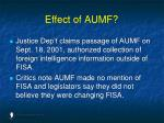effect of aumf