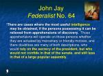 john jay federalist no 64