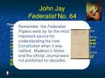 john jay federalist no 642