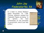 john jay federalist no 643