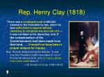 rep henry clay 1818