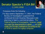 senator spector s fisa bill s 2453 2006