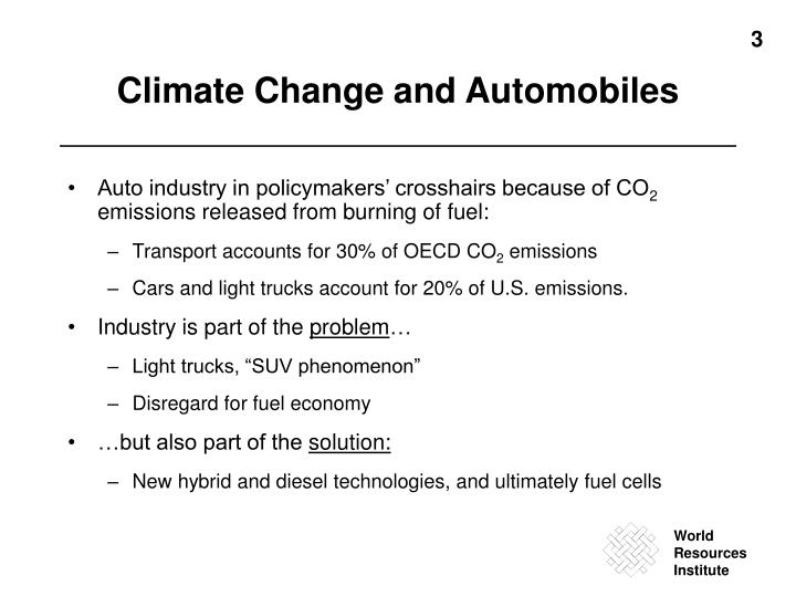 Climate change and automobiles
