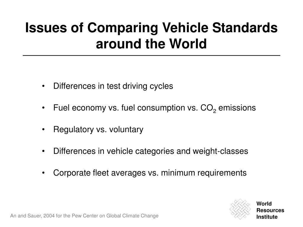 Issues of Comparing Vehicle S