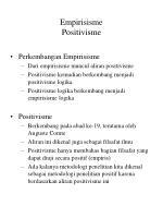 empirisisme positivisme