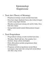 epistemologi empirisisme1