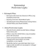 epistemologi positivisme logika
