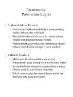 epistemologi positivisme logika1