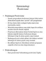 epistemologi positivisme
