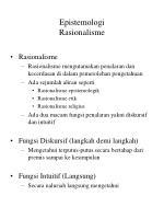 epistemologi rasionalisme