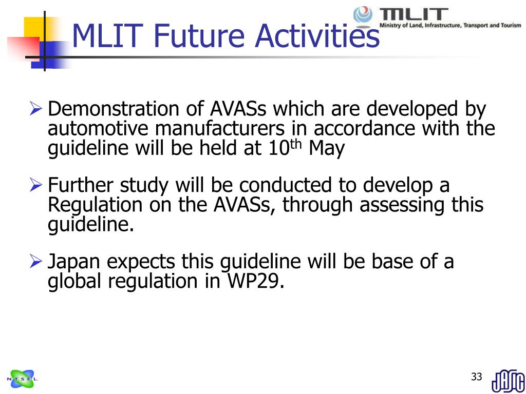 MLIT Future Activities