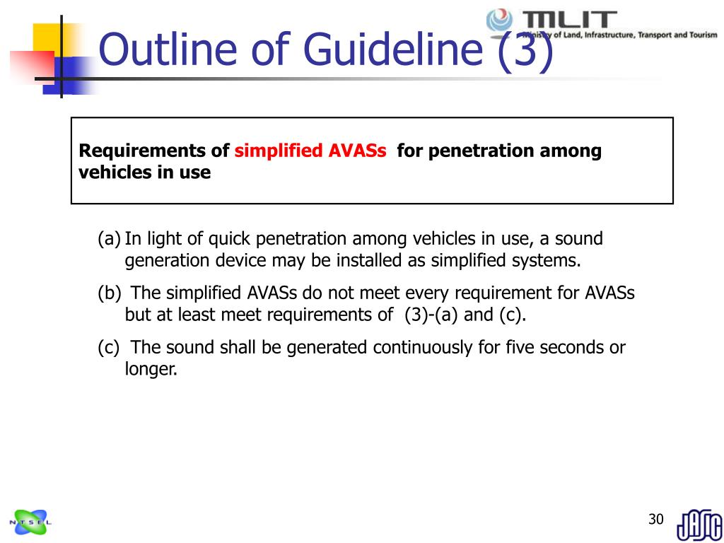 Outline of Guideline (3)