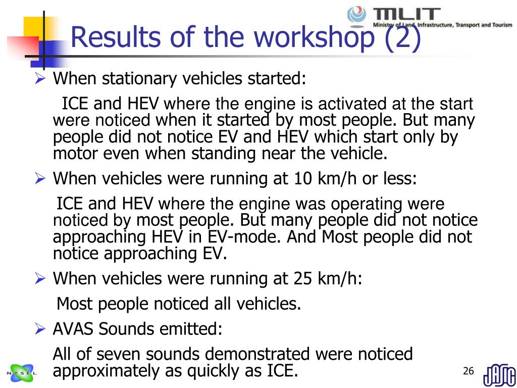 Results of the workshop (2)