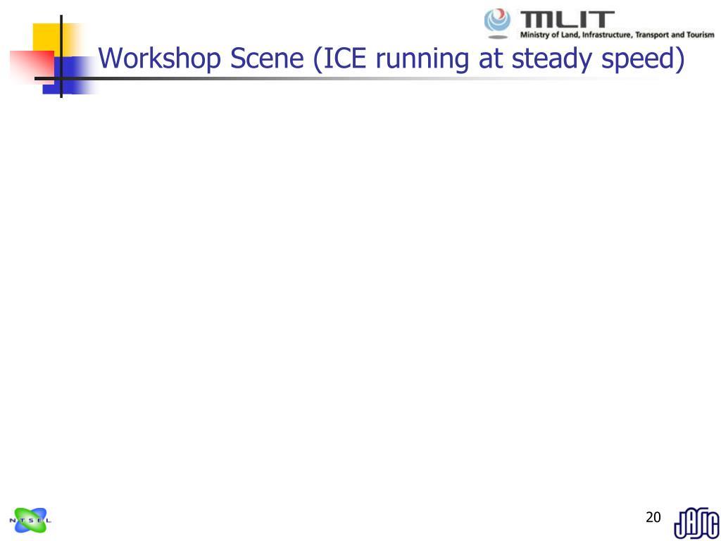 Workshop Scene (ICE running at steady speed)