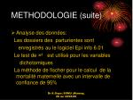 methodologie suite1