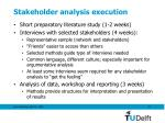 stakeholder analysis execution