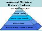 ascensional mysticism diotima s teachings