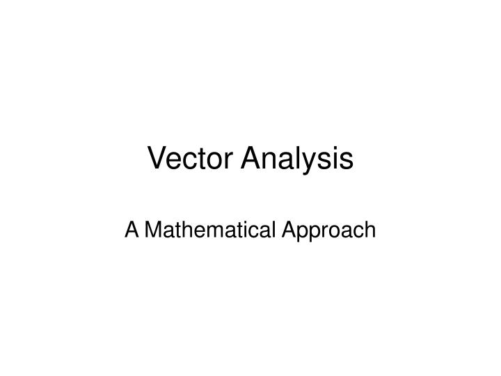 vector analysis n.