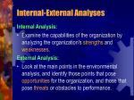 internal external analyses