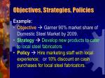 objectives strategies policies1