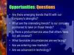 opportunities questions