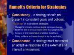 rumelt s criteria for strategies