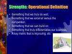 strengths operational definition