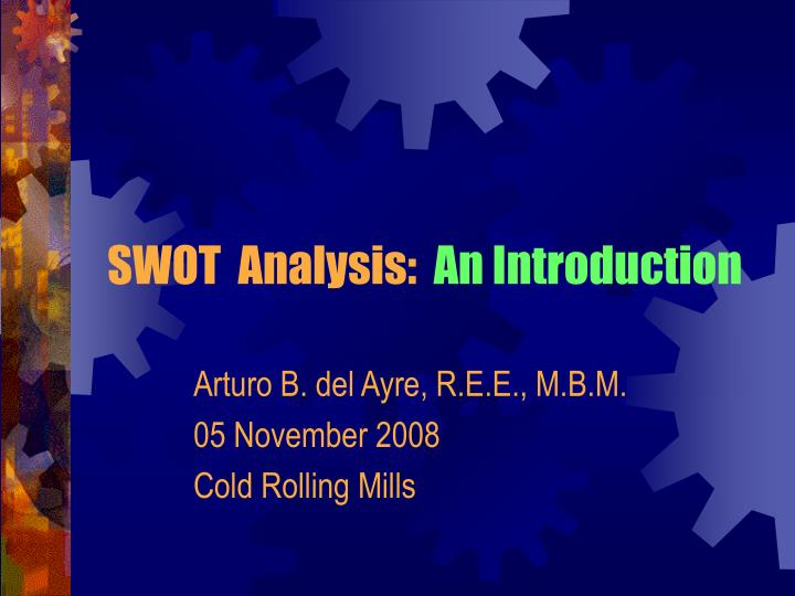 swot analysis an introduction n.