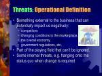 threats operational definition