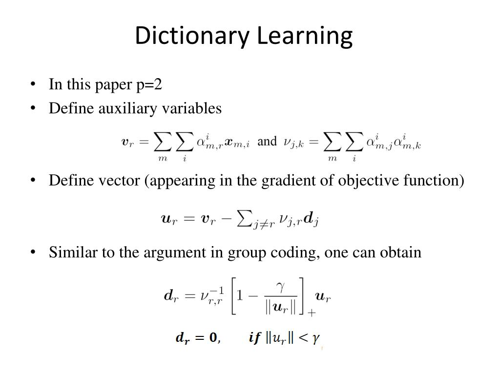 Dictionary Learning