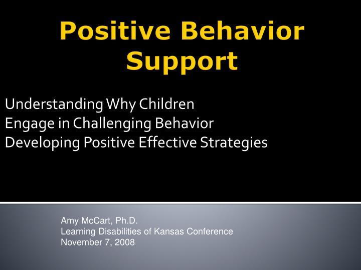 understanding why children engage in challenging behavior developing positive effective strategies n.
