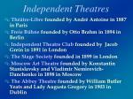 independent theatres