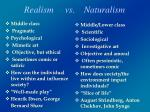 realism vs naturalism